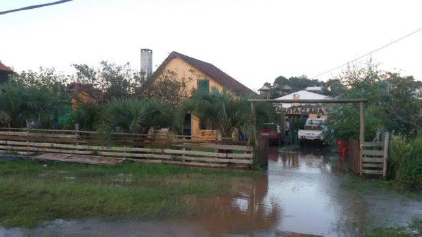...sind von den Überschwemmungen...